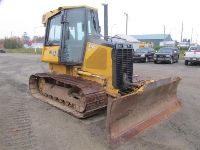 Tracteur à chaînes ( 0 à 9 tonnes) John Deere 550J LGP 2006 équipement