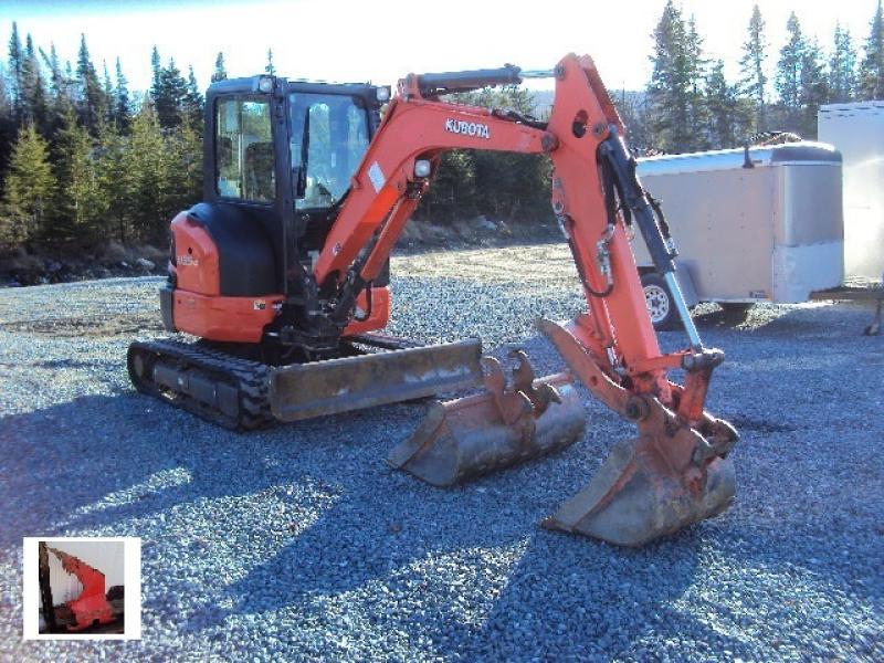 Excavatrice ( 8 tonnes et moins) Kubota U35-4 2013 En Vente chez EquipMtl