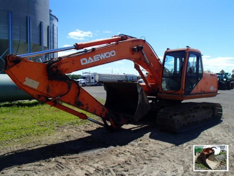 Excavatrice ( 9 à 19 tonnes) Daewoo S170LC-V 2002 En Vente chez EquipMtl